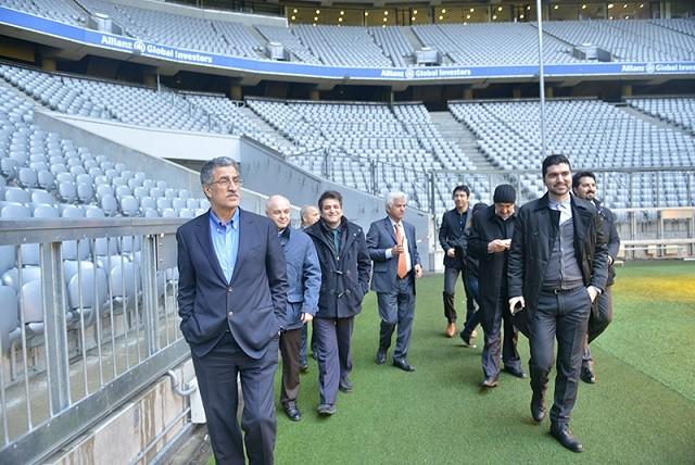رئیس اتاق تهران در ورزشگاه بایرن مونیخ