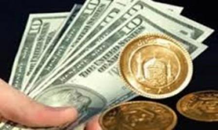 ریزش 250 ریالی قیمت هر دلار و 50 هزار ریالی ارزش هر قطعه سکه طلا