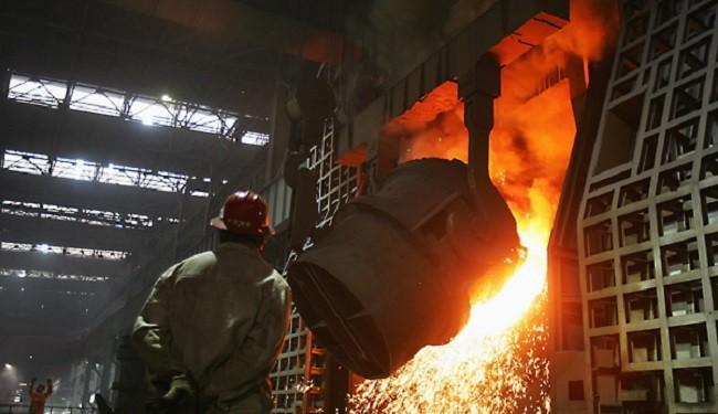 ادامه روند کاهشی تولید روزانه فولاد خام چین