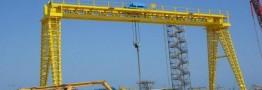 نصب و راهاندازی بزرگترین جرثقیل دروازهای کشور در فولاد مبارکه