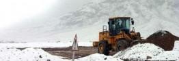بارش شدید برف در محور کرج - چالوس