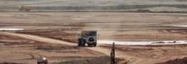 سنگ اندازی کاغذبازی در جاده تسهیلات معدنی