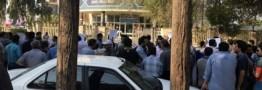 کارگران گروه ملی فولاد اهواز برای دومین روز تجمع کردند